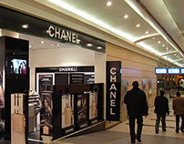 Design Chanel Perfume corner DME Airport Moscow