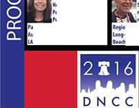 COMMISSION: Design 33rd CD DNC Delegate Slate Flier