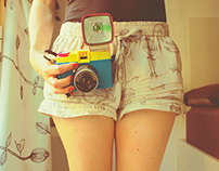 With my cameras