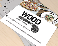 Wood Handcrafted Pizza Flyer