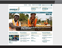 Amara Mining plc Corporate Website