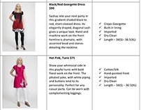 Product Descriptions - Clothing Line