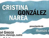Cartel para concierto de Cristina González Narea
