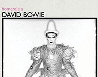 Homenaje a David Bowie. Poster design