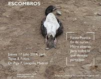 Diseño de cartel para recital poético en Madrid
