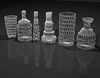 Wireframe Vase Set