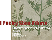 Cartel diseñado para el primer poetry slam de Vitoria