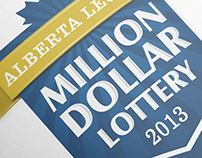 Alberta Legion Million Dollar Lottery - Logo and Poster