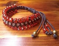 Red Fire Beaded Bracelet