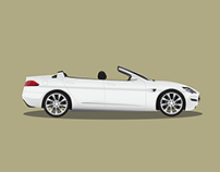 Tesla Model S Convertible Illustration
