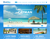 BlueSky Airlines Website