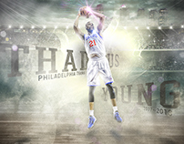 Thaddeus Young Philly Poster