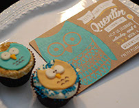 Screen Printed Owl First Birthday Invitation