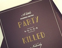 Great Gatsby End-of-year Celebration Invitation