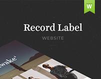 Record Label Website