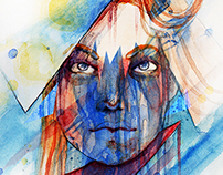Watercolor Portrait Painting