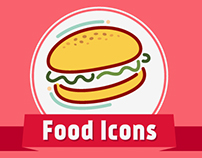 Stylish food Icons
