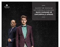 Reliance Vimal A/W'14 Be-Unformal Campaign