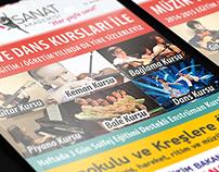MK Sanat Brochure A5 Design