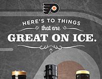 Jack Daniel's and the Philadelphia Flyers Table Tent