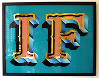 'IF' glass sign