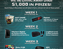 Tech the Halls Holiday Giveaway Flyer