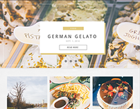 Web design: A food and travel blog