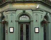 Finboriugh Arms and Finborough Theatre signage