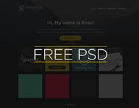 One Page Portfolio Free Psd Template