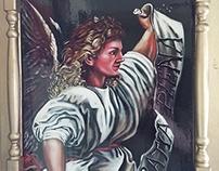 Saint Gabriel Archangel by pallominy after Titian oil