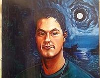Portrait of Yerko Hans Pallominy by Pallominy oil
