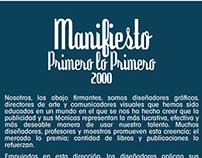 Manifiesto Primero lo Primero 2000