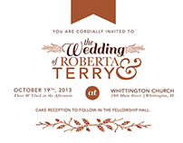 The Wedding of Roberta & Terry