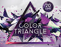Color Triangle Flyer Template