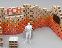 Diseño de stand sustentable para Fundación Chile