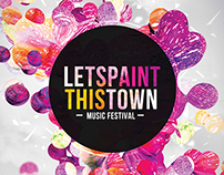 Lets Paint This Town Flyer Template