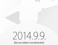 Szifon.com style Apple invitation September 2014