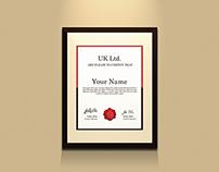 Free Certificate Holder Mockup
