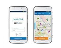 Bűnvadász mobile application design