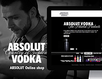 ABSOLUT Online shop website (2010)