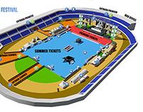 Arona Summer Festival 3D Map