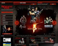 Resident Evil Website - Capcom (2005)