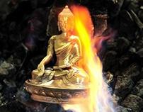 Red Hot Buddha at Norbulingka Institute