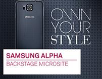 Samsung Galaxy Alpha Microsite