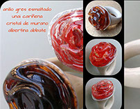 Murano glass and Clay Rings