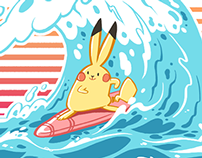 Pikachu used Surf