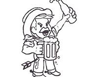 Last Stand Brewing Company cartoon mascot