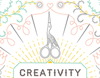 """Creativity with Integrity"" Vector Line Illustration"