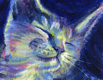 Levi the Cat Painting by Julie Rustad