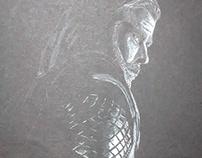 Thor a lápiz blanco